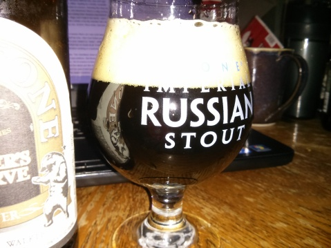 Firestone Walker Walker's Reserve Porter in my brand new Stone IRS glass
